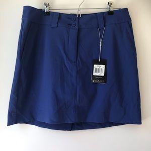 NWT Blue Nike Dri Fit Golf Skort Size 8
